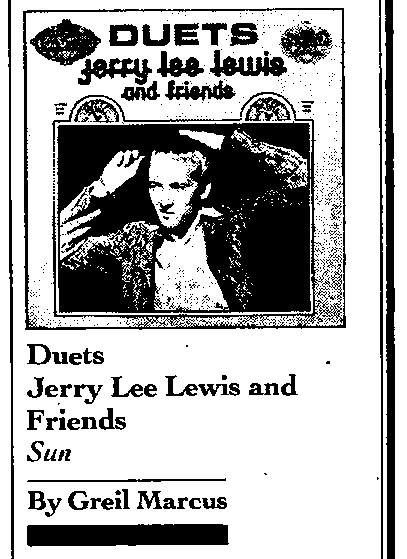 GreilMarcus.net - Jerry Lee Lewis, Duets