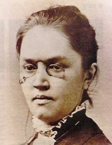 "Katharine Lee Bates, composer of ""America the Beautiful,"" 1883"