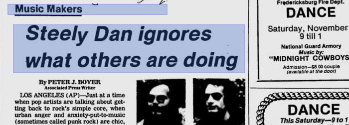 Steely Dan ignores what others are doing