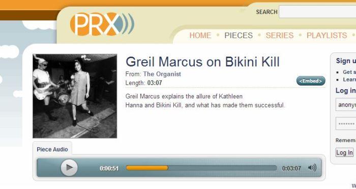 bikini kill audio