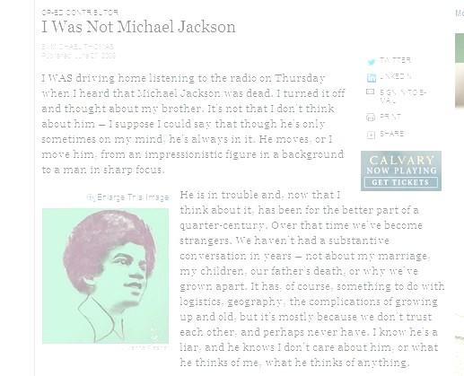 Michael Jackson NYTimes
