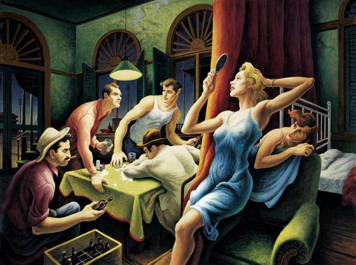 Thomas-Hart-Benton-Poker-Night-from-A-Streetcar-Named-Desire-1948