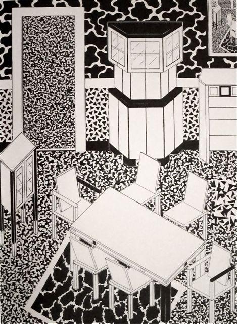 """George J. Sowden, """"Interior design"""" 1983"""
